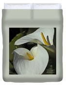 Open White Calla Lily Duvet Cover