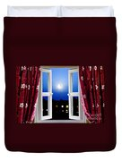 Open Window At Night Duvet Cover