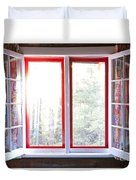 Open Window In Cottage Duvet Cover by Elena Elisseeva