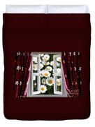 Open Windows Onto Large Daisies Duvet Cover