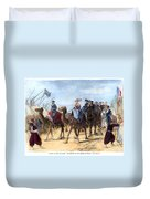 Opening Of The Suez Canal Duvet Cover