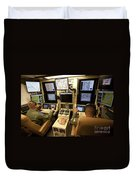 Operators Control Uavs From A Ground Duvet Cover by HIGH-G Productions