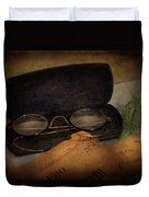 Optometrist - Glasses For Reading  Duvet Cover by Mike Savad