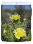 Opuntia Opuntia Sp Cactus Flowering Duvet Cover