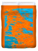 Orange And Blue Reflection In Water. Duvet Cover