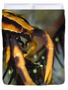Orange And Brown Elegant Squat Lobster Duvet Cover