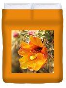Orange And Yellow Cactus Flower Duvet Cover