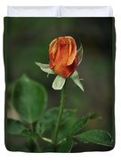 Orange And Yellow Rose Duvet Cover