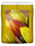 Orange And Yellow Tulips Duvet Cover