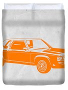 Orange Car Duvet Cover by Naxart Studio
