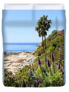 Orange County California Coastline Photo Duvet Cover