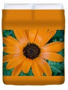 Orange Daisy Duvet Cover