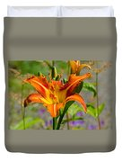 Orange Day Lily Duvet Cover