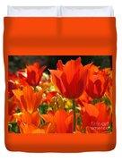 Orange Glow Duvet Cover