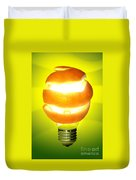 Orange Lamp Duvet Cover