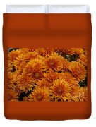 Orange Mums Duvet Cover