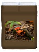 Orange Mushrooms Duvet Cover