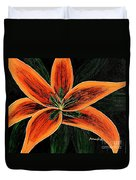 Orange Oriental Lily Duvet Cover