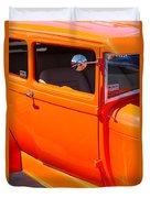 Orange Passenger Door Duvet Cover