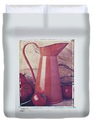 Orange Pitcher And Tomatoes Duvet Cover