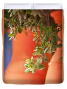 Orange Pots Of The Jardin Marjorelle Morocco Duvet Cover