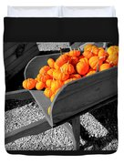 Orange Pumpkin Harvest Duvet Cover