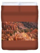 Orange Rock Formations And Trees At Duvet Cover