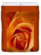 Orange Rose Close Up Duvet Cover