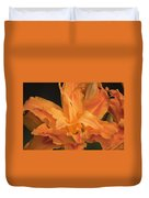 Orange Ruffles Duvet Cover
