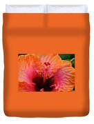 Orange Sherbert Hibiscus Duvet Cover