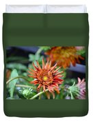 Orange Starburst Duvet Cover