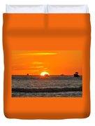 Orange Sunset V Duvet Cover