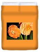 Orange Tuberous Begonias Duvet Cover