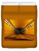 Orange Tunnel In Dc Duvet Cover