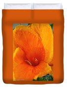Orange Twist Duvet Cover by Susan Herber