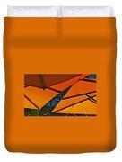 Orange Umbrella Abstract Duvet Cover