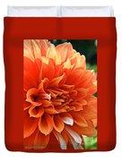 Orange Vanilla Dahlia Duvet Cover