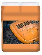 Orange Vw Bug Duvet Cover