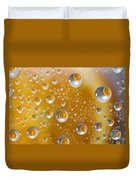 Orange Water Drops Duvet Cover