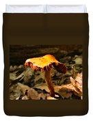 Orange Wild Mushroom Duvet Cover