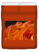Orange With Visitor Duvet Cover