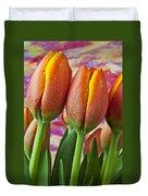 Orange Yellow Tulips Duvet Cover