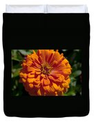 Orange Zinnia Duvet Cover