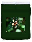 Orb Weaver And Lunch Duvet Cover