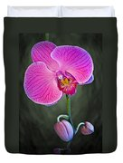Orchid And Buds Duvet Cover