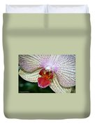 Orchid Close Up Duvet Cover