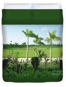 Orchids At Iberostar Golf Course In Punta Cana Dr Duvet Cover