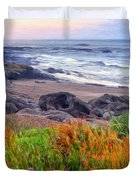 Oregon Coast Wildflowers Duvet Cover