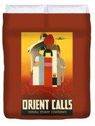 Orient Calls Duvet Cover