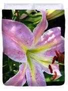 Oriental Lily Named Tom Pouce Duvet Cover